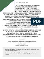 Water Keeper Allianc v. Dept. of Defense, 271 F.3d 21, 1st Cir. (2001)
