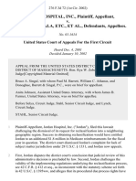 Jordan Hospital v. Shalala, 276 F.3d 72, 1st Cir. (2002)