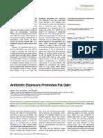 Antibiotic Exposure Promotes Fat Gain