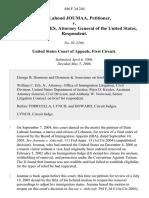 Joumaa v. Gonzales, 446 F.3d 244, 1st Cir. (2006)