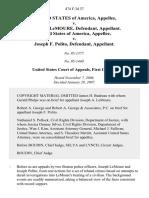 United States v. Lemoure, 474 F.3d 37, 1st Cir. (2007)