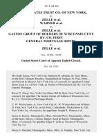 United States Trust Co. Of New York v. Zelle Warner v. Zelle Gaston Group of Holders of Wisconsin Cent. Ry. Co. First General Mortgage Bonds v. Zelle, 191 F.2d 822, 1st Cir. (1951)