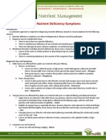Diagnostic Common Nutrient Deficiency Symptoms