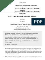 Hap Corporation v. Heyman Manufacturing Company, Heyman Manufacturing Company v. Hap Corporation, 311 F.2d 839, 1st Cir. (1963)