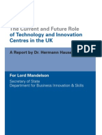 10 843 Role of Technology Innovation Centres Hauser Review
