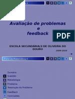 Avaliação de problemas e feedback-problema