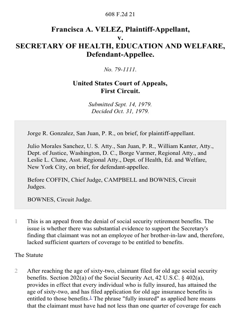 department of health education and welfare