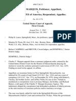 Charles T. Marquis v. United States, 698 F.2d 13, 1st Cir. (1983)