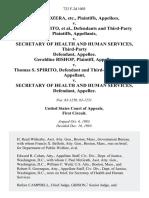 Carole Kozera, Etc. v. Thomas S. Spirito, and Third-Party v. Secretary of Health and Human Services, Third-Party Geraldine Bishop v. Thomas S. Spirito, and Third-Party v. Secretary of Health and Human Services, 723 F.2d 1003, 1st Cir. (1983)