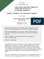 Federacion De Empleados Del Tribunal General De Justicia v. Eulalio A. Torres, 747 F.2d 35, 1st Cir. (1984)