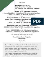 36 Fair empl.prac.cas. 771, 35 Empl. Prac. Dec. P 34,834 Boston Chapter, Naacp v. Nancy B. Beecher, Boston Firefighters Union, Local 718, Intervenor, Pedro Castro v. Nancy Beecher, Boston Police Patrolmen's Association, Inc., Intervenor, Pedro Castro v. Nancy Beecher, Boston Chapter, Naacp v. Nancy B. Beecher, Civil Service Commission, 749 F.2d 102, 1st Cir. (1984)