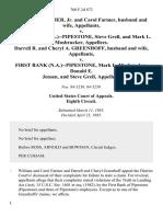 William P. Farmer, Jr. And Carol Farmer, Husband and Wife v. First Bank (n.a.)--pipestone, Steve Grell, and Mark L. Mosbrucker, Darrell R. And Cheryl A. Greenhoff, Husband and Wife v. First Bank (n.a.)--pipestone, Mark L. Mosbrucker, Donald E. Jensen, and Steve Grell, 760 F.2d 872, 1st Cir. (1985)