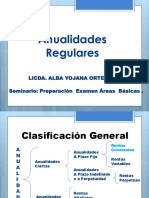 Anualidades Casos Especiales Seminario Examen Areas Basicas. Licda Alba Ortega Aug 29