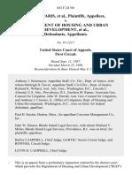 Antonia Paris v. Department of Housing and Urban Development, 843 F.2d 561, 1st Cir. (1988)