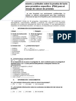 exámenes para la calculadora de próstata psa