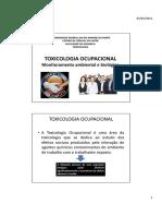 toxicologia ocupacional Ocupacional