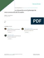2015_Cadena Et Al_Alteraciones de Coloración en El Plumaje de Aves Silvestres Del Ecuador