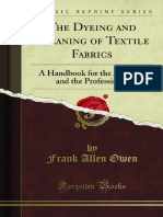 The Dyeing and Cleaning of Textile Fabrics 1000715929