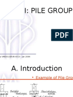 Foundation Studies - Pile Group