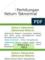 Model Perhitungan Return Taknormal