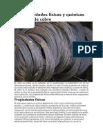 Las Propieda11des Físicas y Químicas Del Cable de Cobre