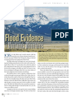 Flood Evidence in Montana Mountains