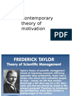 Contemporary Theory of Motivation