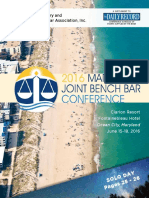 2016 Maryland Joint Bench Bar Conference Program Guide