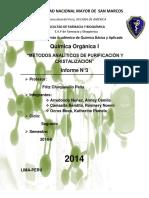 metodos de cristalizacion y purificacion- san marcos