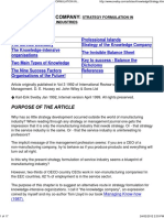 The Knowledge Company_ Strategy Formulation in Knowledge-Intensive Industries