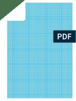 Millimeterpapier Blau Copia