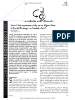 Social Enterprise as Algorithm
