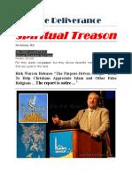 Spiritual Treason Rick Warren 1