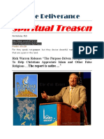 Spiritual Treason Rick Warren 1