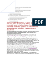 Myer-Briggs Personality Theories