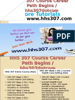 HHS 307 Course Career Path Begins Hhs307dotcom