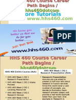 HHS 460 Course Career Path Begins Hhs460dotcom
