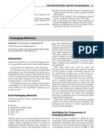 Food and Nutritional Analysis Packaging Materials