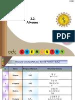 2.3 Alkenes