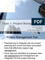 Topic 1 - Risk Project Management