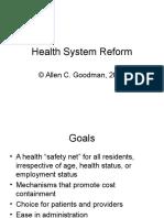 Health System Reform 2015