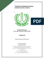 Graduate Directory of HIMS - Hamdard University - Spring 2010