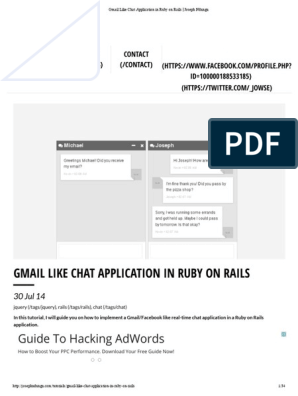 Gmail Like Chat Application in Ruby on Rails _ Joseph Ndungu | Ruby