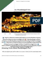 Amazing Trivia - Kumbhalgarh Fort _ Tourism Infopedia