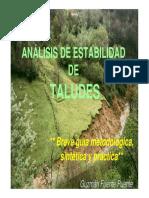 Estudio de estabilidad de taludes en proyectos y obras de carretera