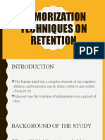 Memorization Techniques on Retention