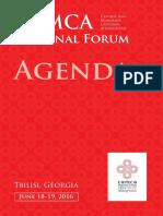 Agenda CAMCA Regional Forum