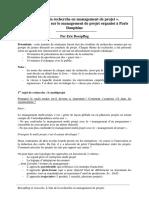 Etat de La Recherche en Management de Projet