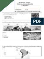 Evaluación Síntesis Historia 4 basico