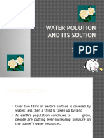 PowerPoint Presentation of water polution and its prevention